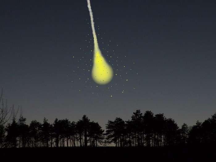 Voici à quoi devait ressembler l'explosion finale de l'objet... © J.-B. Feldmann