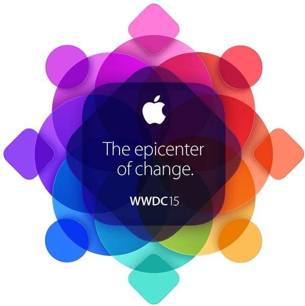 Cette année, le slogan de la Worldwide Developers Conference d'Apple est « The epicenter of change », ou « l'épicentre du changement ». © Apple