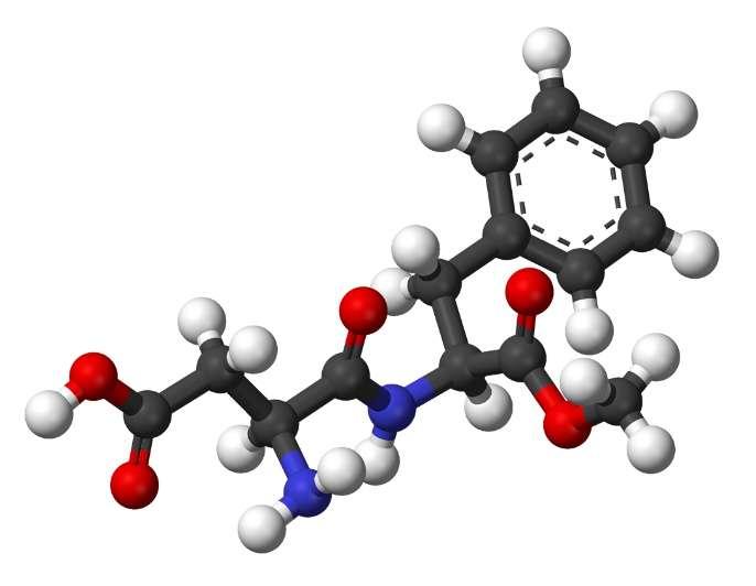 L'aspartame est un dipeptide utilisé comme édulcorant.© Benjah-bmm27, Wikimedia, domaine public