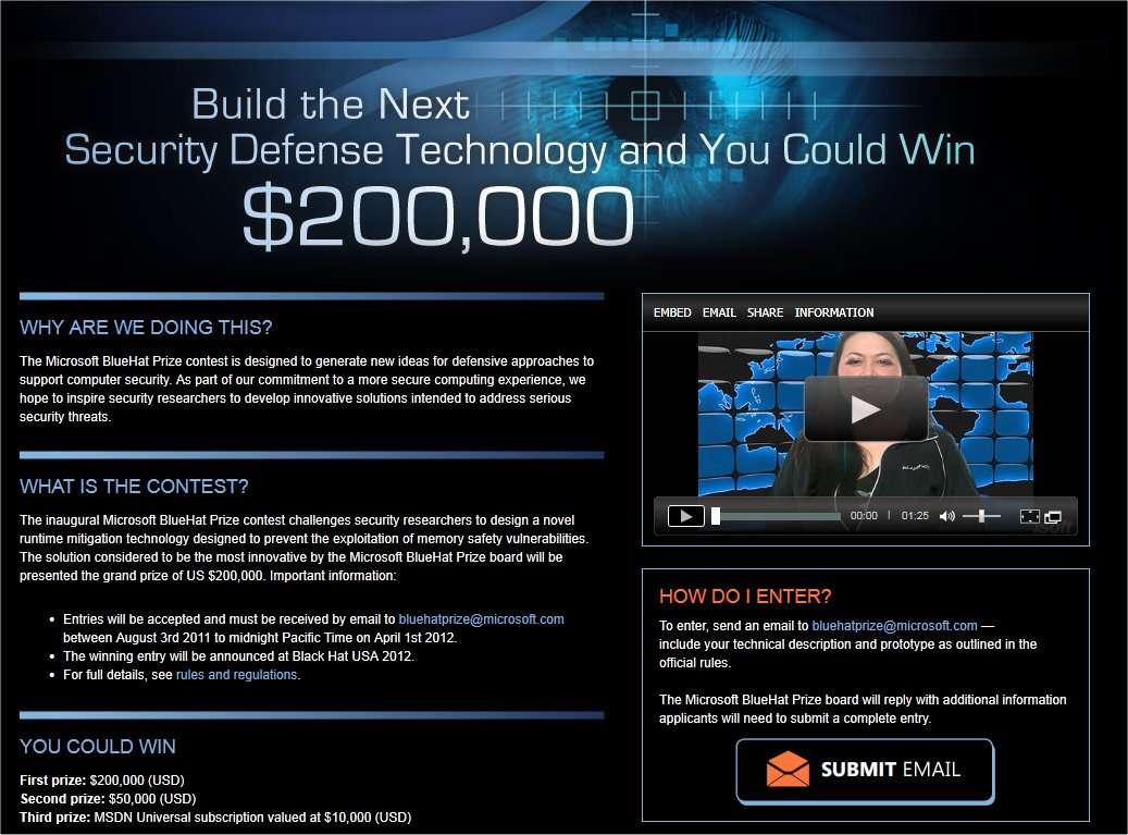 Les détails du concours, ouvert à tous (bonne connaissance de l'anglais et de l'informatique recommandée). © Microsoft