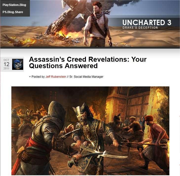 Les jeux de Sony (ici sur le blog PlayStation) semblent attirer les esprits belliqueux. © Sony
