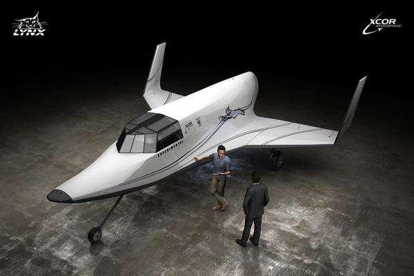 Le Lynx Mark I, un avion spatial conçu comme un jet privé. © XCor