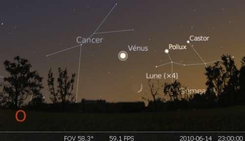 La Lune est en rapprochement avec la planète Vénus