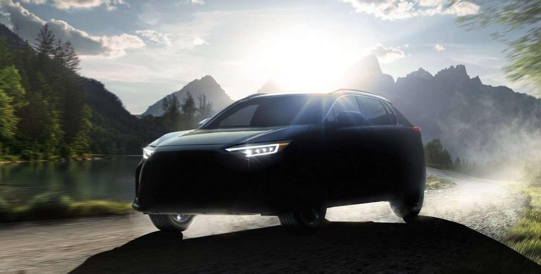 Un aperçu des lignes du futur SUV électrique Solterra de Subaru. © Subaru