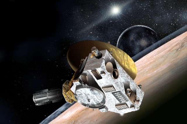 New Horizons, une sonde de moins de 500 kg, avec 30 kg seulement d'instruments scientifiques, doit explorer des mondes lointains et inconnus : le système Pluton-Charon et, au-delà, la ceinture de Kuiper. © JPL