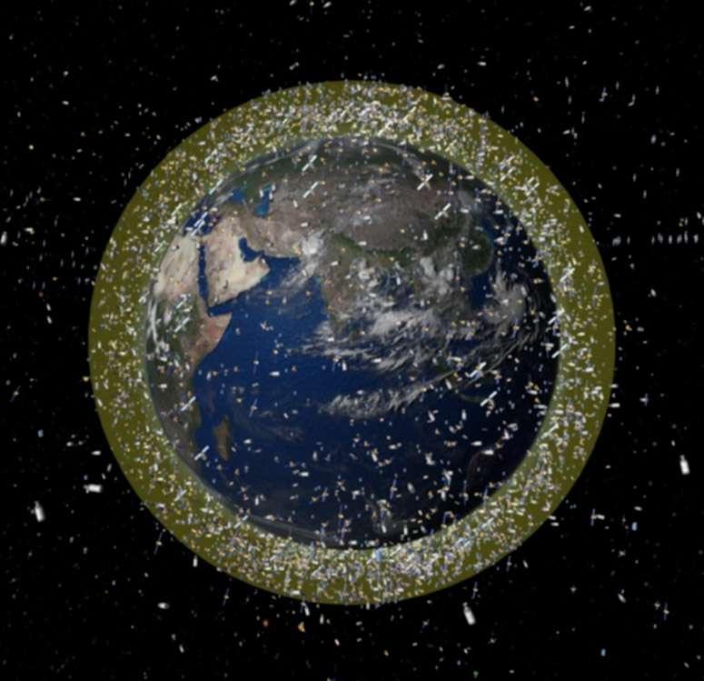 La Terre est entourée de plus de 20.000 débris spatiaux, flottants entre 800 et 1.400 km d'altitude. © Esa