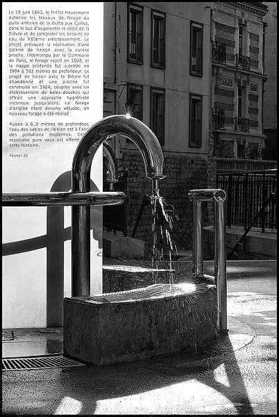 Le puits artésien de la butte aux cailles à Paris. © Hugues Mitton CC by-sa 2.5