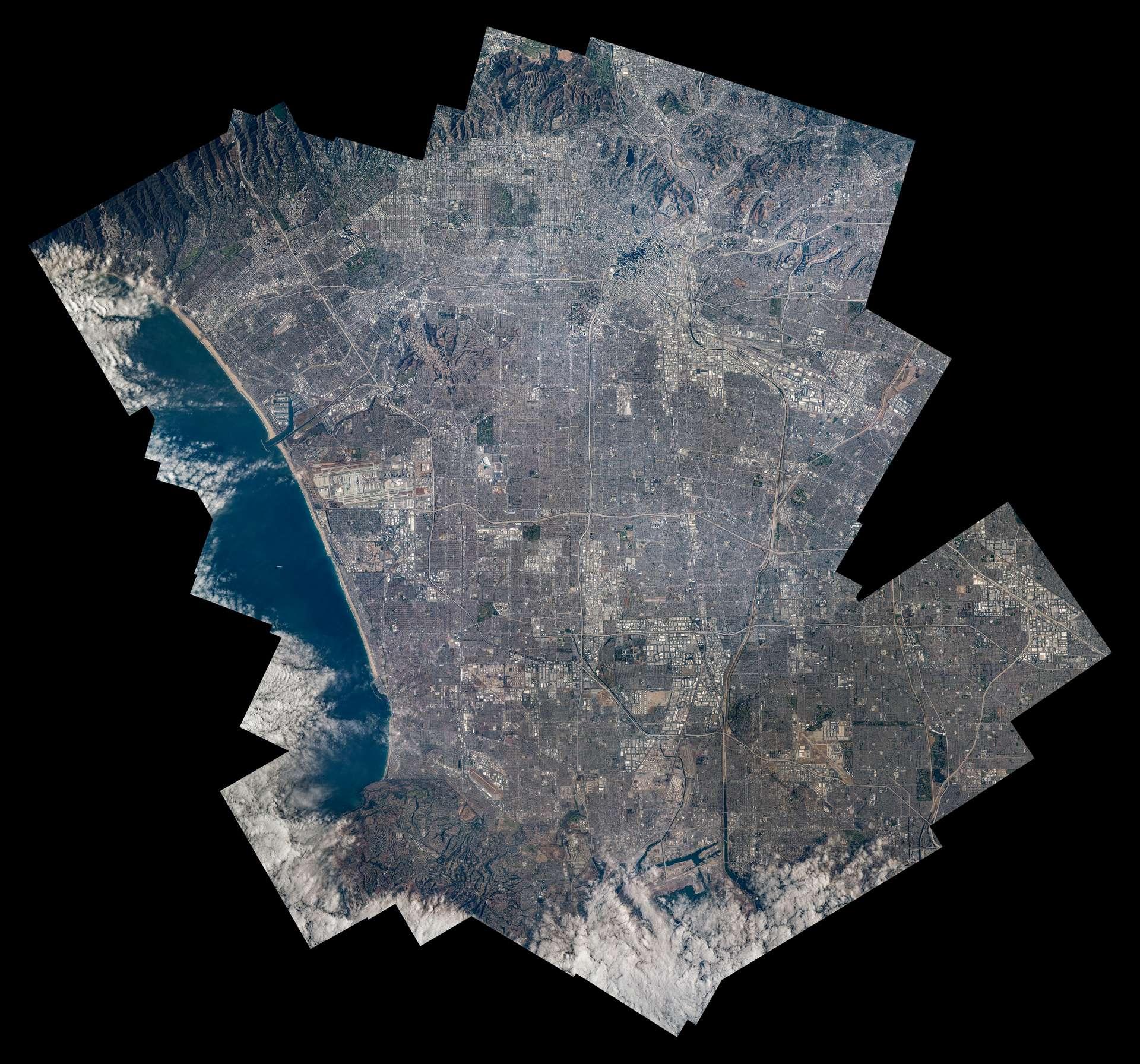 Grand collage de Los Angeles © ESA/NASA