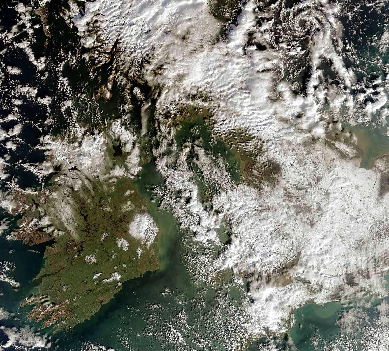 Les îles de Grande-Bretagne et d'Irlande. Crédit Esa