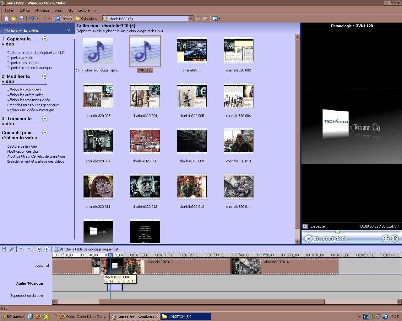 Montage vidéo avec Windows : mettre un fond sonore. © Futura-Techno