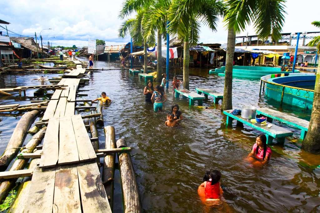 Près de 140.000 personnes auraient été touchées par les inondations de la province de Loreto, dont la capitale est Iquitos, au Pérou. Malheureusement plusieurs décès sont à dénombrer. Certains seraient liés à l'apparition d'épidémies, notamment de leptospirose. © Williams Santini, IRD