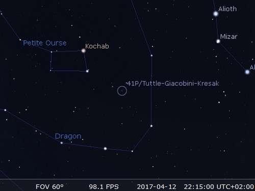 La comète 41P/Tuttle-Giacobini-Kresak passe au plus près du Soleil