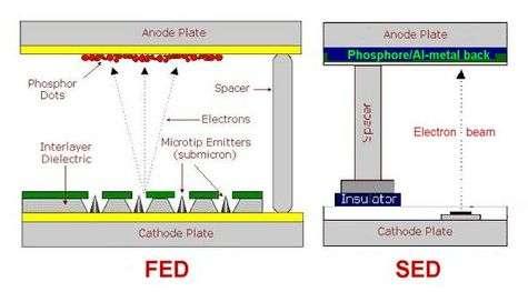 Comparaison des systèmes SED et FED.