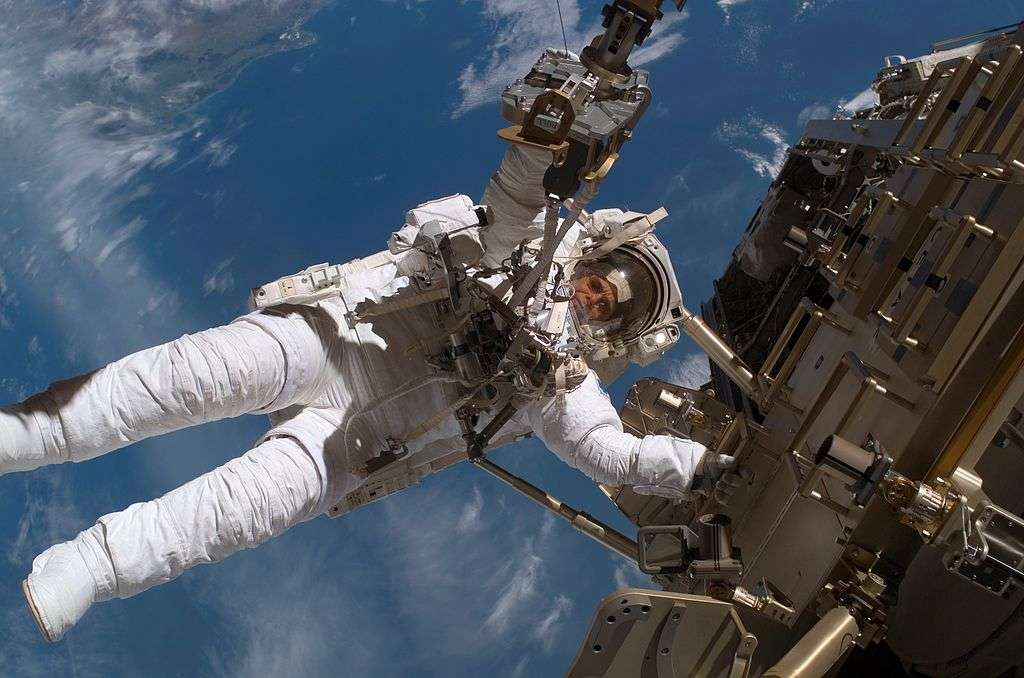 Rick Mastracchio et Mike Hopkins s'apprêtent à effectuer la 175e sortie dans l'espace depuis que l'ISS s'y trouve. Ce sera la sixième pour le premier nommé et la première pour son compagnon. © Nasa