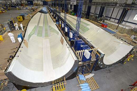 Les étuis que la compagnie Vesta compte utiliser pour la fabrication de ses pales de 80 m. La compagnie Blade Dynamics prévoit quant à elle de construire des pales de 100 m sans étui ! © MIT