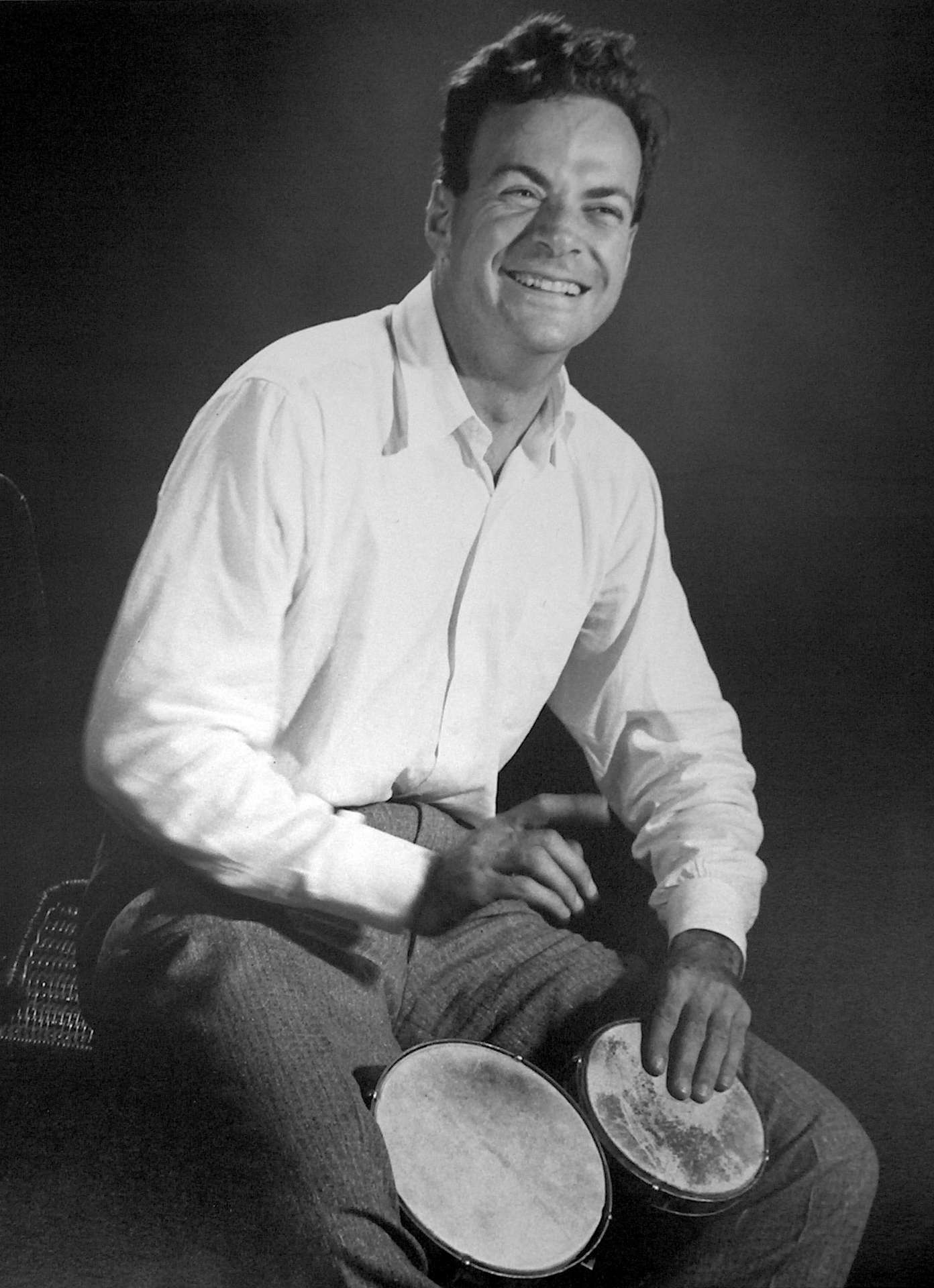 Le grand physicien Richard Feynman, pionnier des ordinateurs quantiques. © Tom Harvey