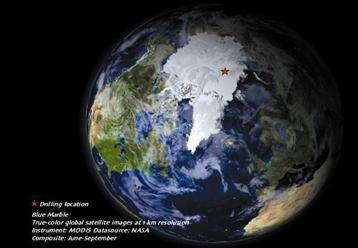 Les forages ont été effectués sur la ride océanique Lemonosov en Arctique central. (Crédits : MODIS-NASA 2006)
