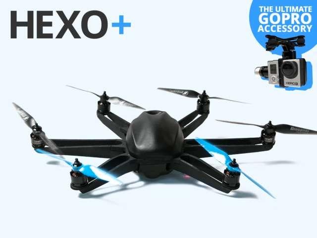 Pour les sportifs, la société Squadrone System a imaginé un drone volant, baptisé Hexo+, équipé d'une caméra et capable de les suivre de près grâce au signal émis par leur smartphone. © Squadrone System