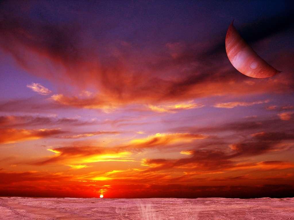 Lune gravitant autour d'une exoplanète. © Flickr, ComputerHotline, CC BY 2.0