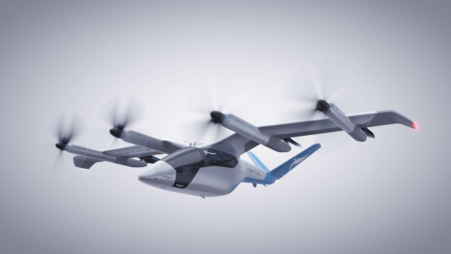 Le taxi volant VA-X4 de Vertical Aerospace promet d'être 100 fois plus silencieux qu'un hélicoptère. © Vertical Aerospace