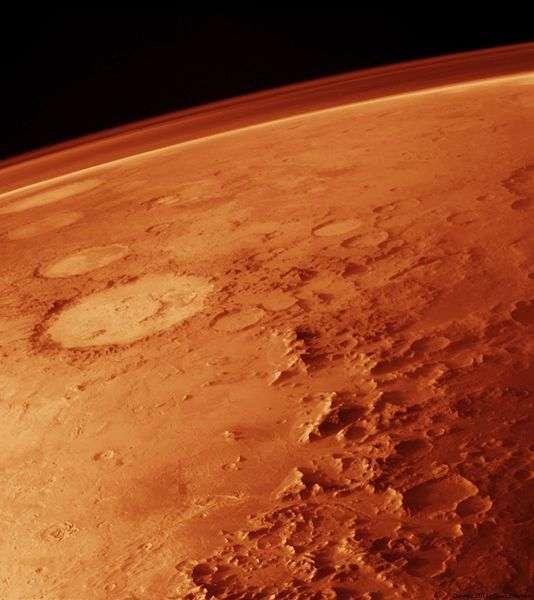 Si Mars porte bien son surnom de Planète rouge, on peut aussi la voir sous d'autres couleurs... © Nasa