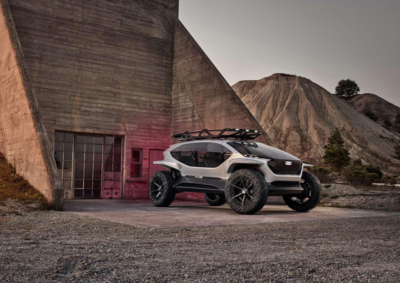 L'Audi Ai:Trail sort des sentiers battus, au propre comme au figuré. © Audi