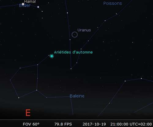 La planète Uranus est en opposition