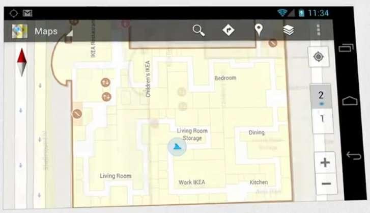 Une carte du magasin pour trouver le rayon DVD... Google Maps Indoor est déjà utilisé dans plusieurs pays et commence à être déployé en France. © Google (extrait de la vidéo de démonstration, en anglais)