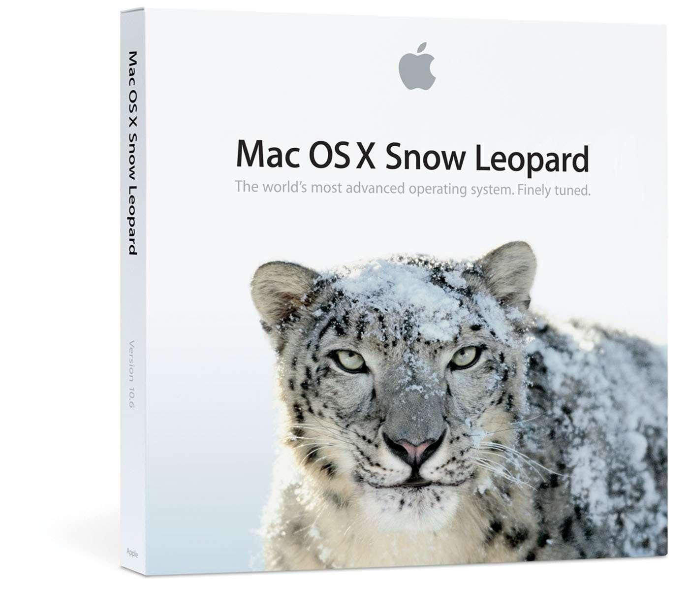 Snow Leopard, une nouvelle version du logiciel système des Mac. © DR