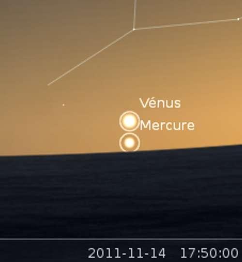 Élongation maximale de Mercure et rapprochement avec Vénus