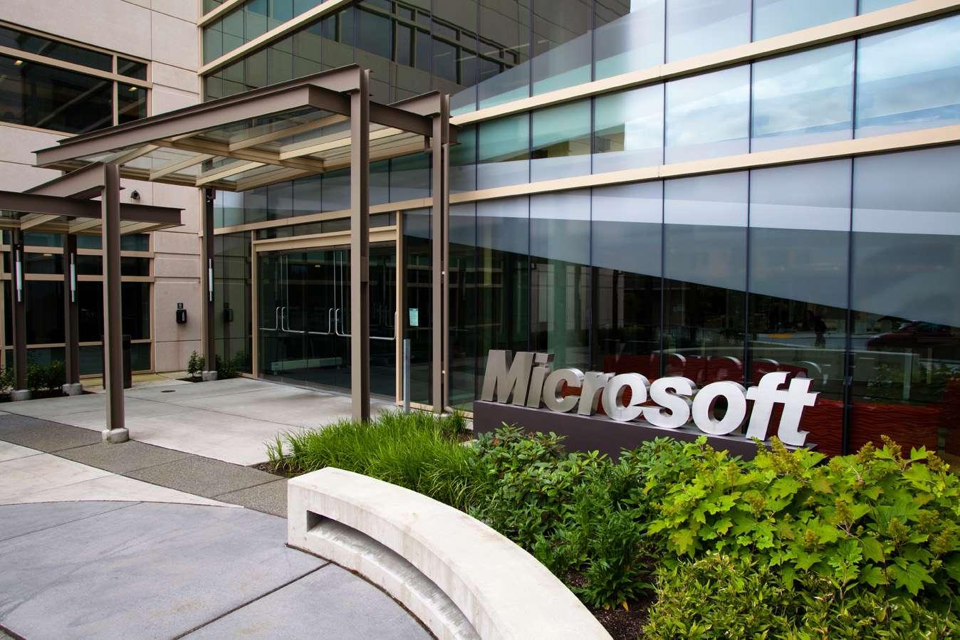 C'est dans cet immeuble du campus de Redmond (États-Unis), que Microsoft conduit ses recherches mêlant le réel et le virtuel, notamment avec Kinect Fusion et Lightspace. © Microsoft
