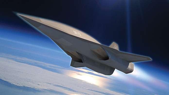 Une vue stylisée d'un SR-72, drone hypersonique capable de se déplacer à Mach 6, donc plus de 6.000 km/h. © Lockheed Martin