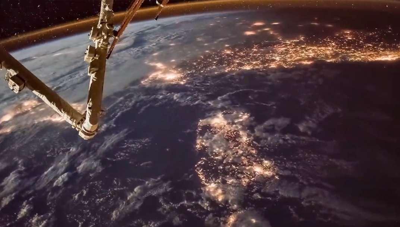 ISS : les lumières de la Terre vues de la Station spatiale