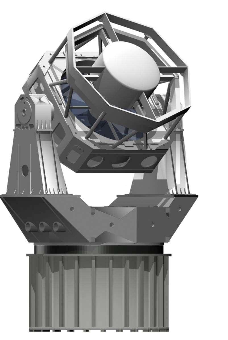 Ce télescope terrestre de la Darpa est spécifiquement conçu pour voir dans le visible des objets de très petites tailles à des distances remarquables de la Terre (36.000 km). Lorsqu'il sera opérationnel, il complétera la gamme des télescopes américains dédiés à la surveillance du ciel et le recensement des objets (débris, satellites, résidus de lanceurs) qui encombrent les orbites. © Darpa