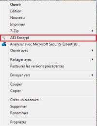 Tout fichier peut être chiffré avec AES Crypt, le temps de chiffrement dépendant bien entendu de son poids. © Guénaël Pépin