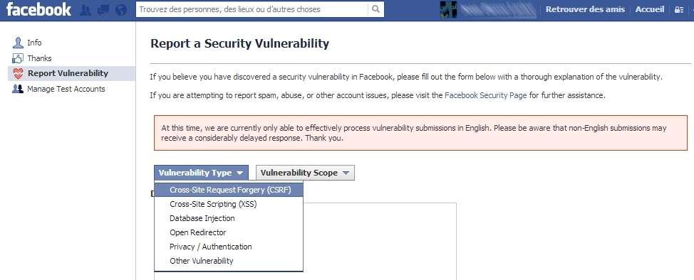 Facebook s'appuie sur un réseau de hackers dans un programme baptisé White Hat. Il s'agit donc de « gentils hackers » qui s'évertuent à dénicher d'éventuelles failles de sécurité. Pour la découverte d'un bug, le réseau social offre une prime d'au moins 500 dollars. © Facebook