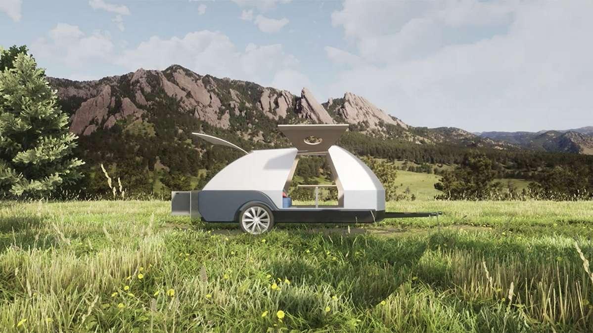 La caravane The Boulder de Colorado Teardrops sera commercialisée à partir de l'année prochaine aux Etats-Unis. © Colorado Teardrops