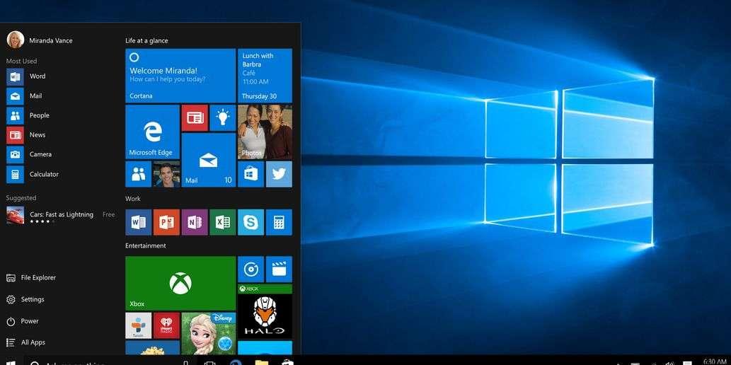 Windows 10, système d'exploitation de Microsoft, est sorti le 29 juillet 2015. © Microsoft