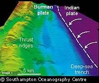 Une image reconstituée de la zone sous-marine impliquée