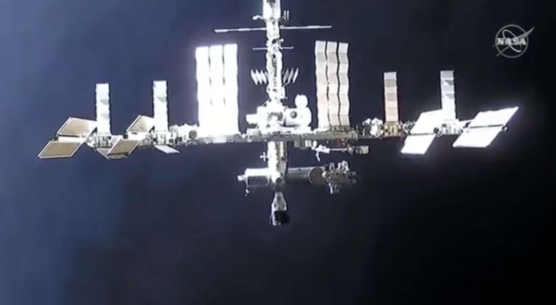 La Station spatiale en approche, le 7 décembre. © Nasa