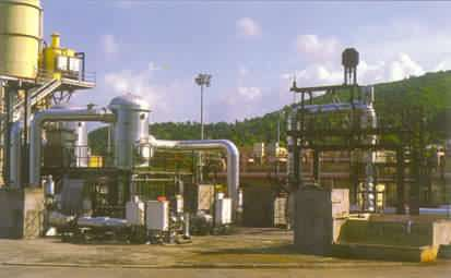 Une centrale géothermique