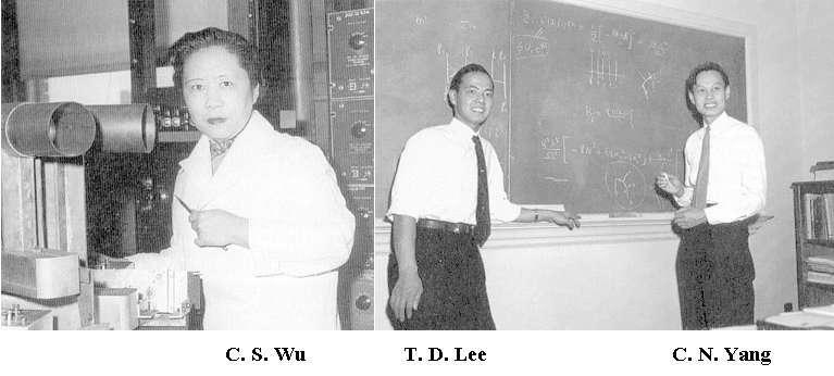 De gauche à droite Chien-Shiung Wu, Tsung-Dao Lee, Cheng Ning Yang. Crédit : universe-review
