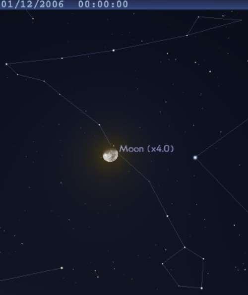 La Lune occulte l'étoile 60 des Poissons