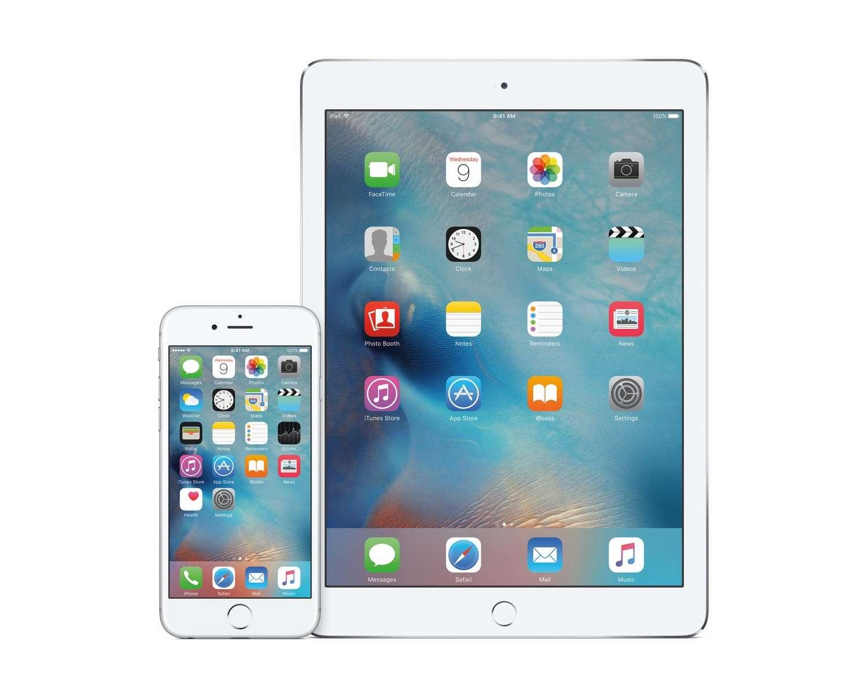 La version 9 d'iOS d'Apple, lancée en septembre 2015. © Apple