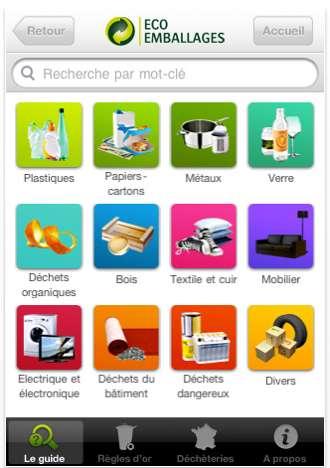 Le guide du tri en application sur votre iPhone : ne vous trompez plus de bac ! © Eco-emballage