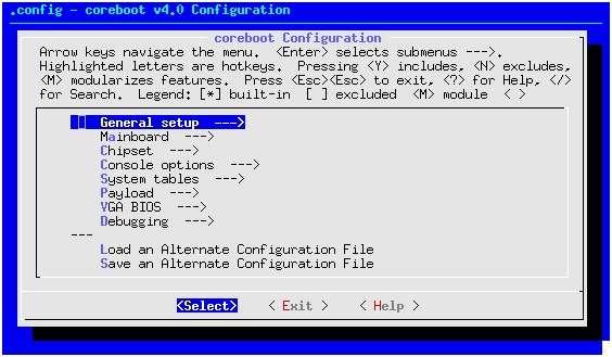 Le Bios, comme celui-ci signé Coreboot, est un programme enregistré sur la carte mère du PC, qui a pour rôle d'en contrôler les composants matériels les plus essentiels (processeur, mémoire, horloge, etc.) ainsi que ses différents connecteurs. S'il est touché par un virus capable de se répliquer sur les composants reliés à la carte mère, il devient très difficile à décontaminer. © Coreboot