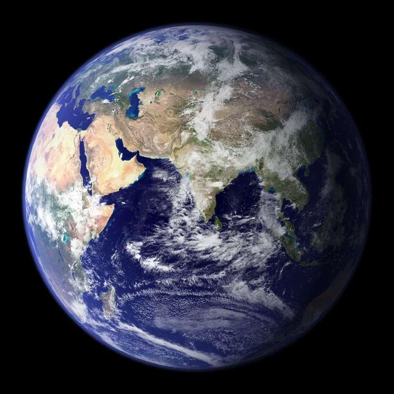 La Terre vue de l'espace. Crédit : Nasa/GSFC