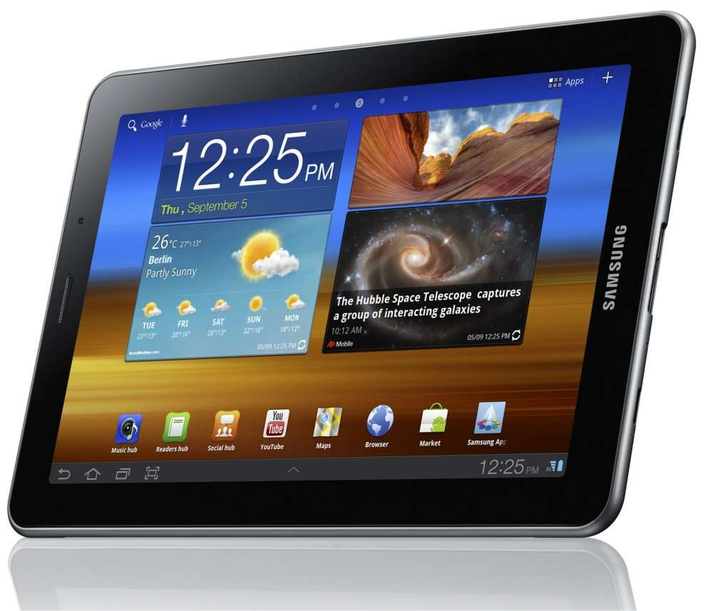La tablette Galaxy 7.7 est considérée par Apple comme trop inspirée par l'iPad. © Samsung