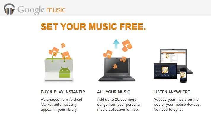 Google Music se fraie un chemin sur le marché de la vente de musique en ligne. © Google Music