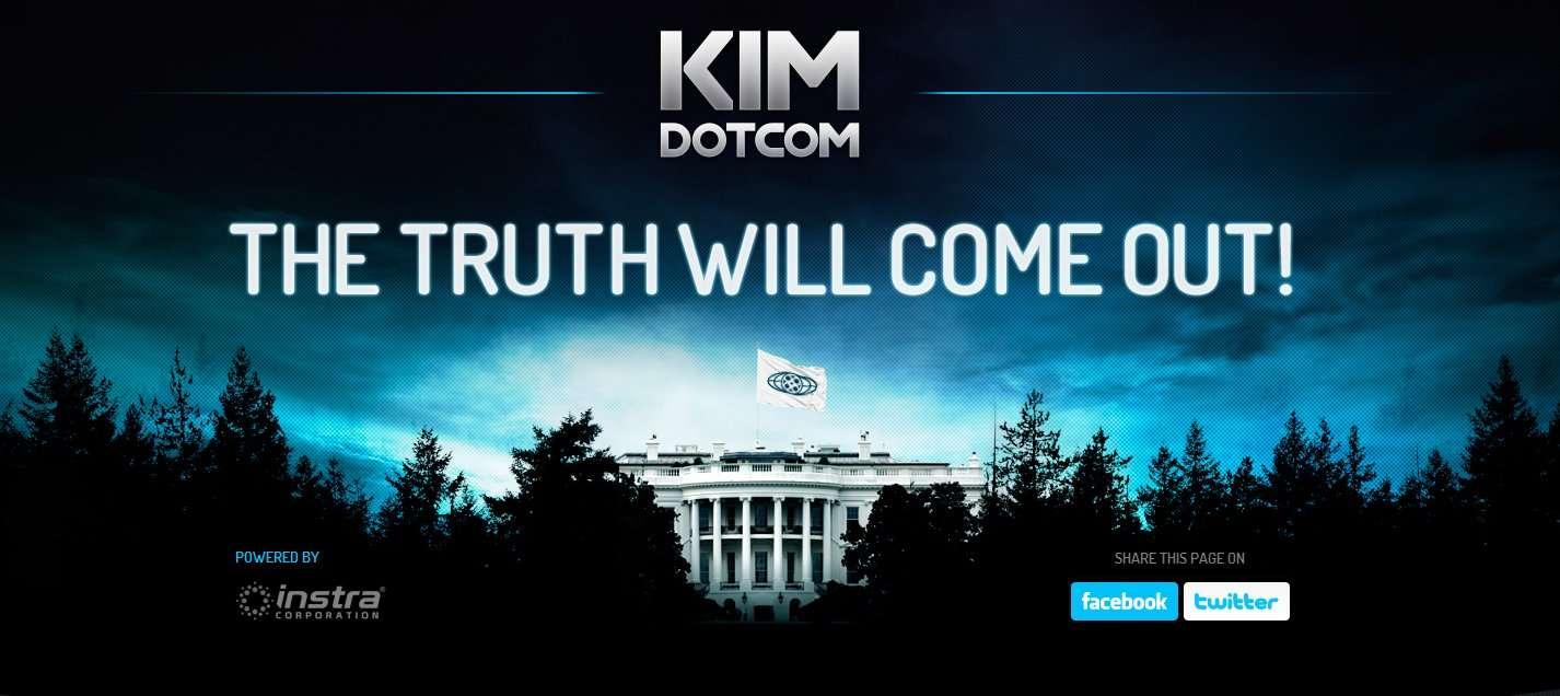 Le site, à tendance mégalomaniaque, de Kim Dotcom, père de Magaupload. © k.com